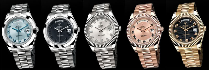 The Auction Hammer Rolex Day Date Ii Platinum Monochrome Watches