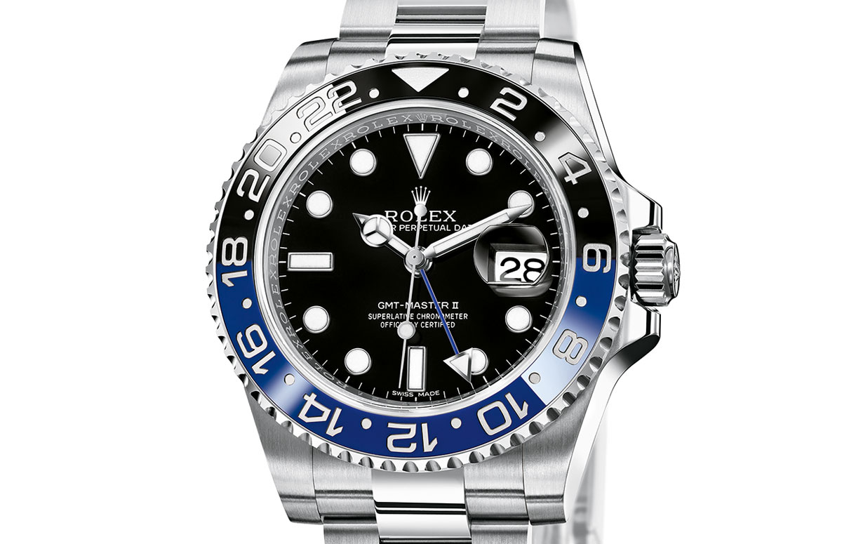 Rolex GMT Master II steel blue black