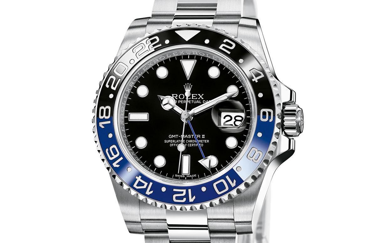 Rolex GMT Master II steel blue black