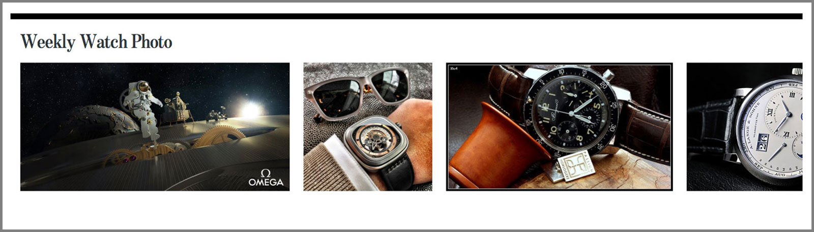 Monochrome weekly watch photo