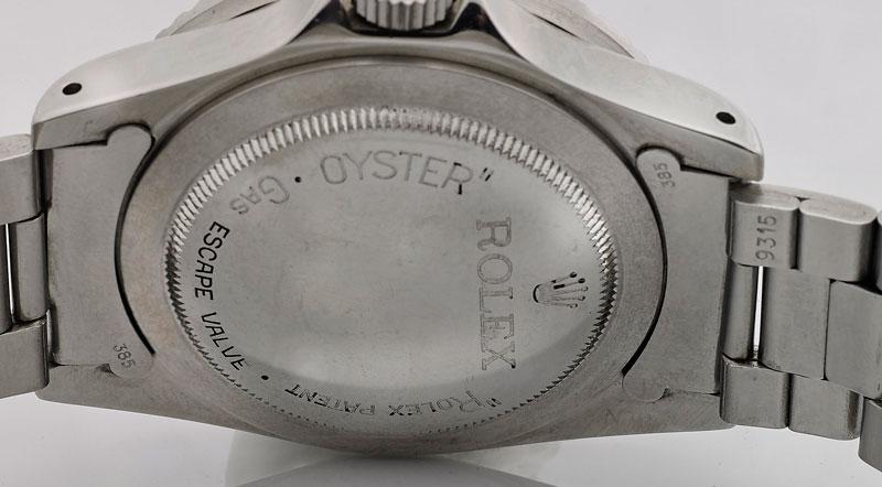 Rolex Sea-Dweller 1665 case back