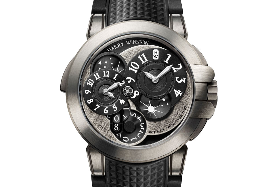 Harry Winston Ocean Dual Time Monochrome