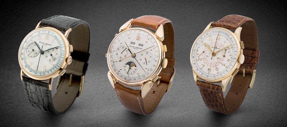 Baume et Mercier vintage chronographs