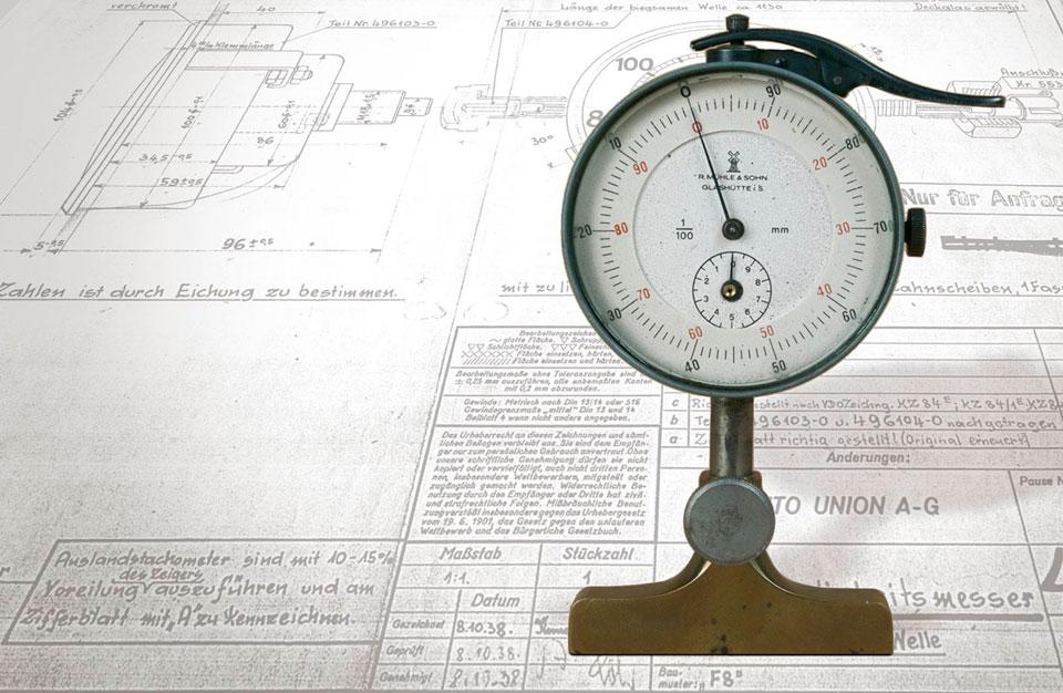 Muehle historic Model 29 indicator gauge