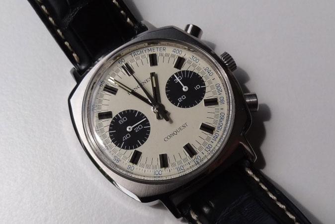 vintage Longines Conquest chronograph