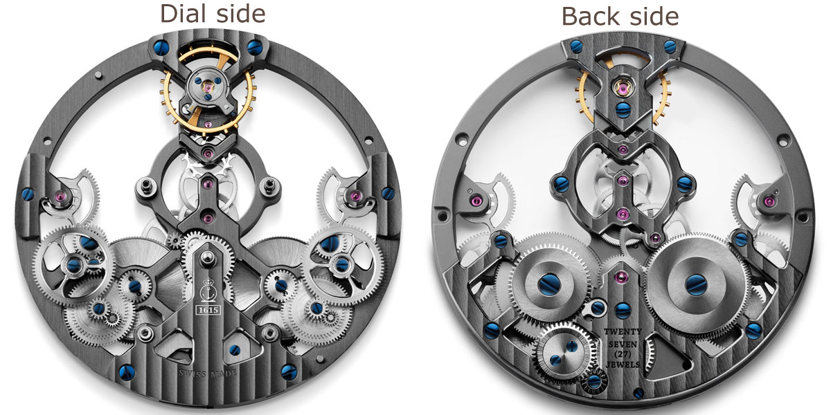 Arnold & Son skeletonised mechanical movement A&S1615