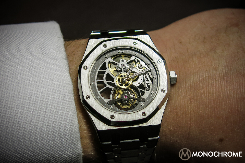10809764085 SPOTTED  Prototype AP Royal Oak 40th Anniversary Skeleton Tourbillon ...