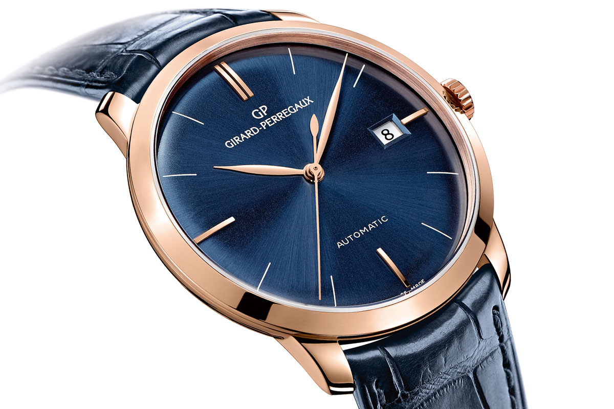 Girard-Perregaux GP 1966 pink gold and blue