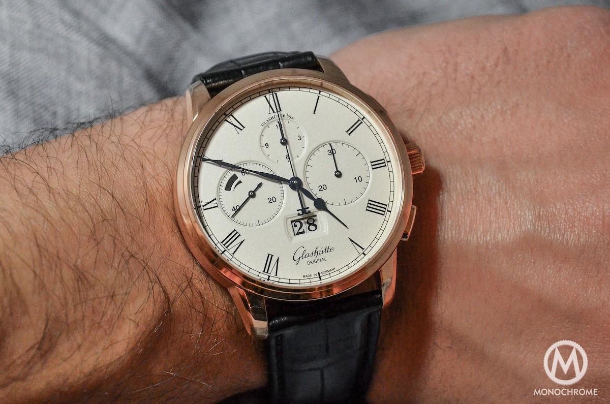 Glashutte Original Senator Chronograph Panorama Date - wristshot