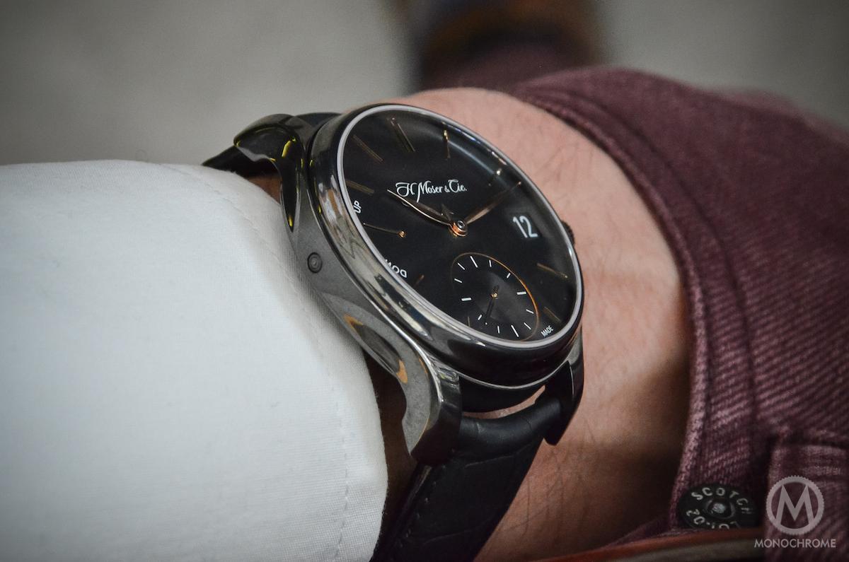 H. Moser Perpetual Calendar Black DLC Titanium - Wristshot 1