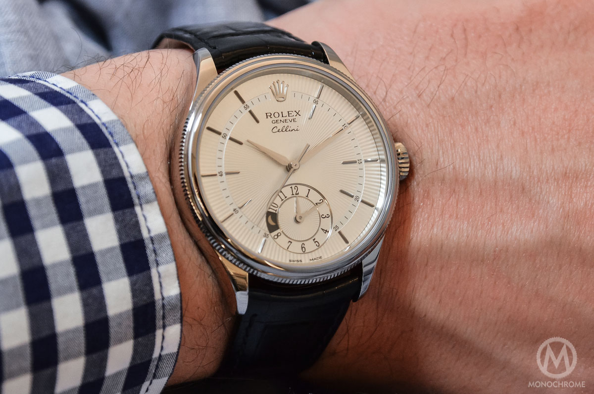 Rolex Cellini Dual Time wristshot