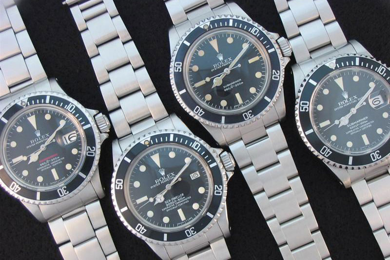 Rolex Submariners and Seadwellers