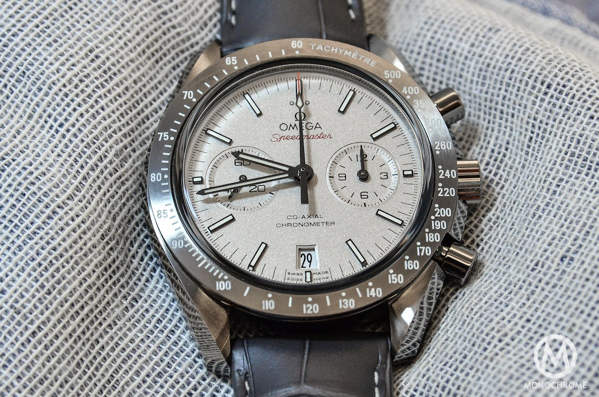 e90de42086c Hands-on with the Omega Speedmaster Lunar Dust - Monochrome Watches