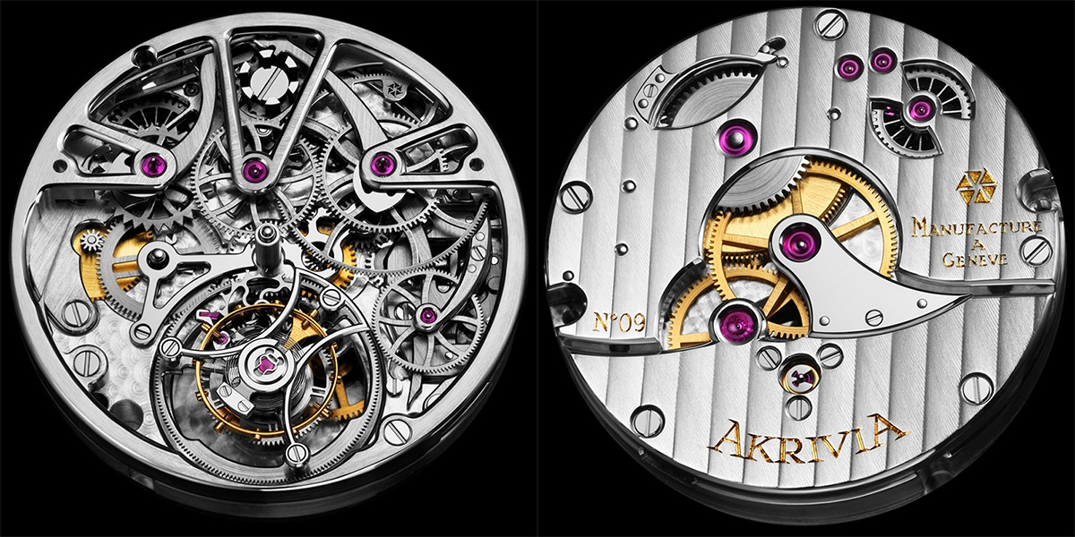 AkriviA Tourbillon Monopusher Chronograph movement