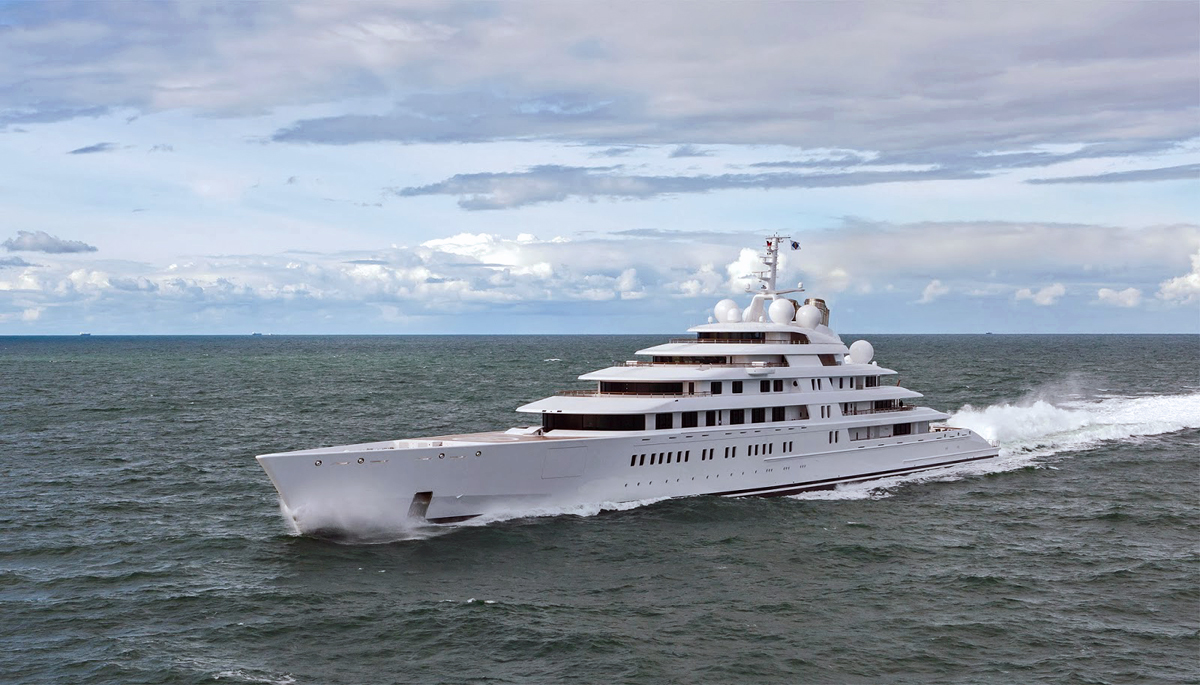 For the Perfect Fit, we recommend a mega-yacht like the 180m Azzam built by Lurssen
