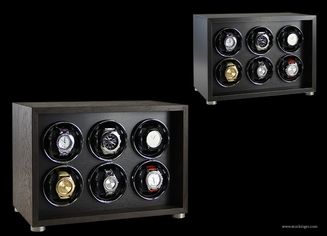 Stockinger Watch-Winder-Cabinet-6v_black-brushed-metal-and-smoked-oak