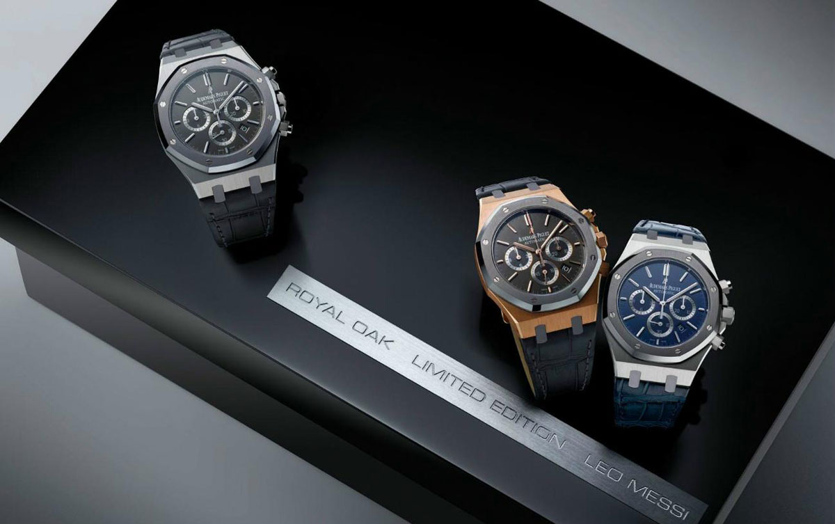 audemars piguet royal oak chronograph leo messi collection box