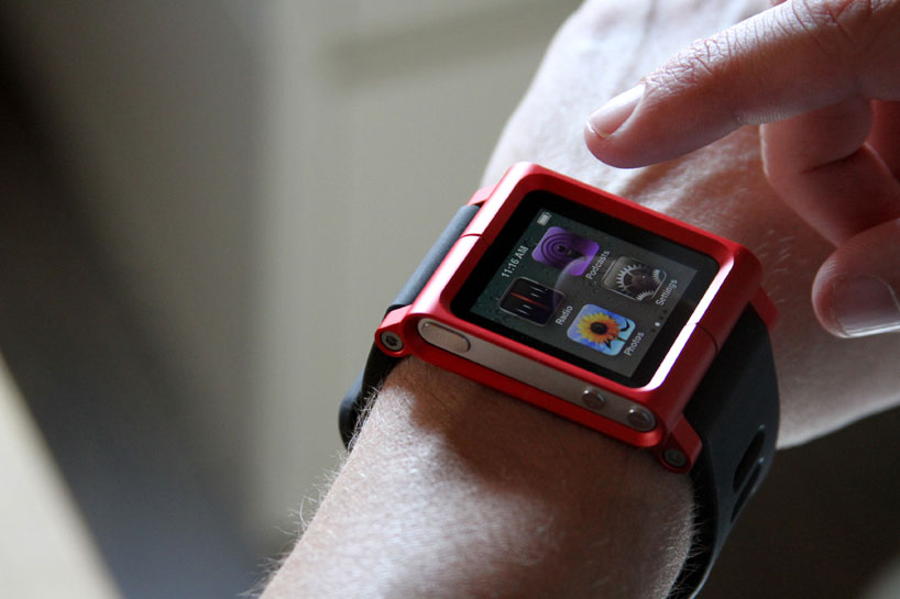 iPod used as a watch