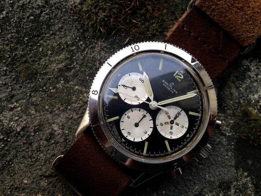 Breitling Avi 765 reversed panda dial
