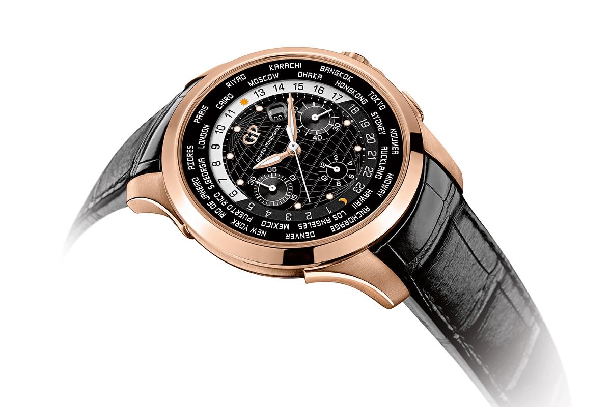 Girard-Perregaux Traveller WW.TC Pink Gold Black dial