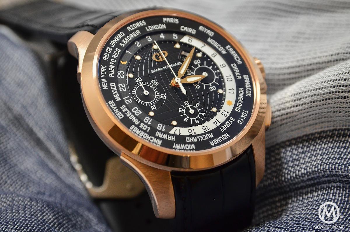 Girard-Perregaux Traveller WW.TC Pink Gold black dial - 1