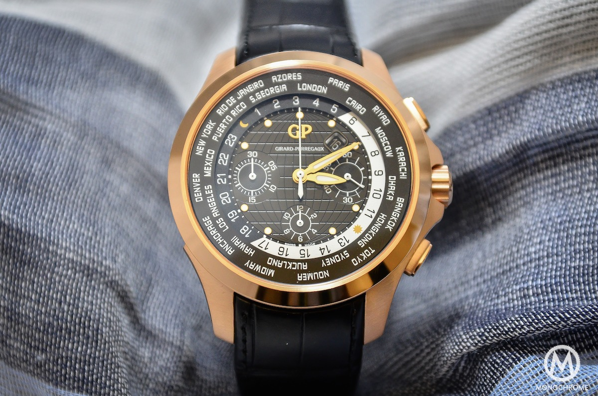 Girard-Perregaux Traveller WW.TC Pink Gold black dial - 3