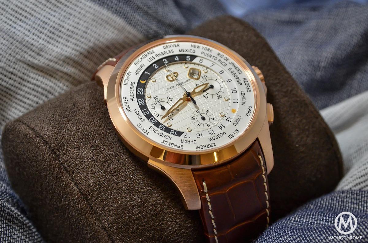 Girard-Perregaux Traveller WW.TC Pink Gold white dial - 1