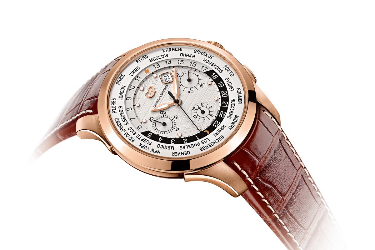 Girard-Perregaux Traveller WW.TC Pink Gold white dial
