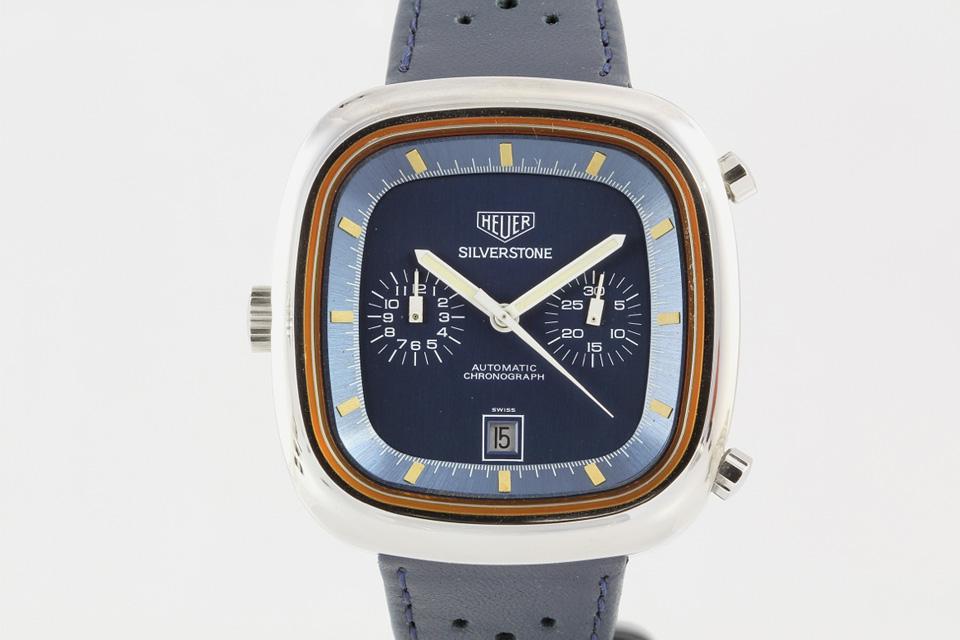 Heuer Silverstone vintage blue - 1