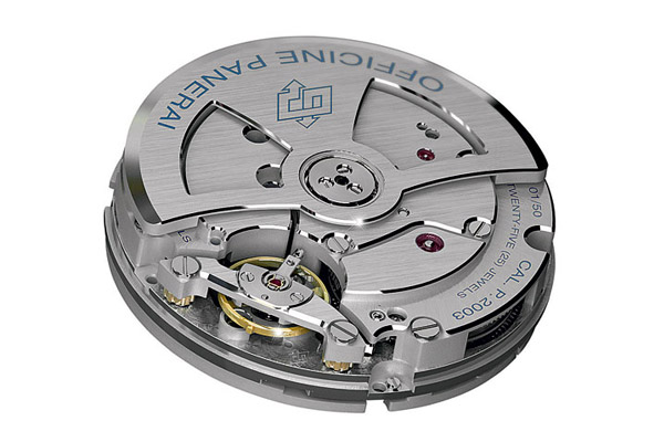 Caliber P.2003 is an automatic version of P.2002 with 10 days' power reserve.