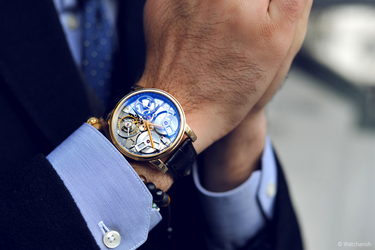 Arnold & Son TB88 pink gold - 1