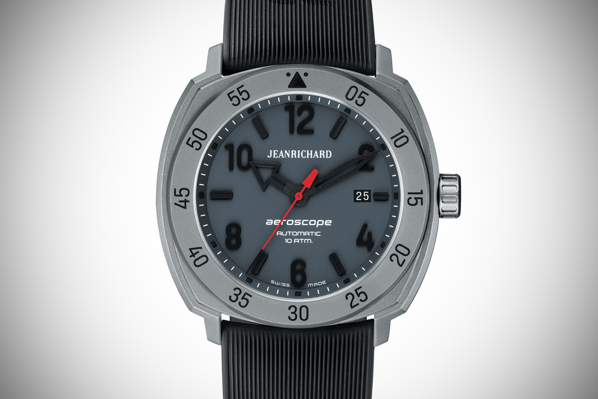 JEANRICHARD Aeroscope 3 hands titanium grey