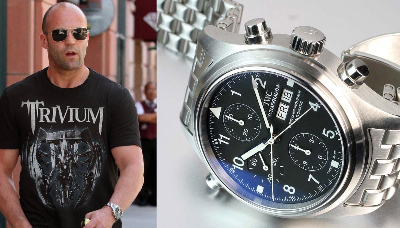Watching celeb watches jason statham monochrome watches for Celebrity wearing panerai