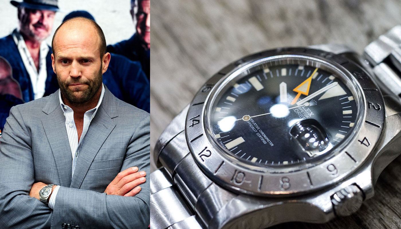 Statham best choice: a Rolex Explorer II 1655 Orange hand