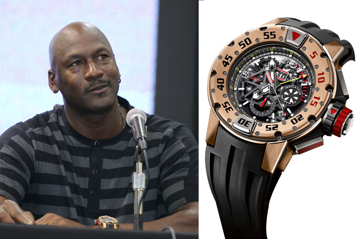 Michael Jordan with Richard Mille RM032