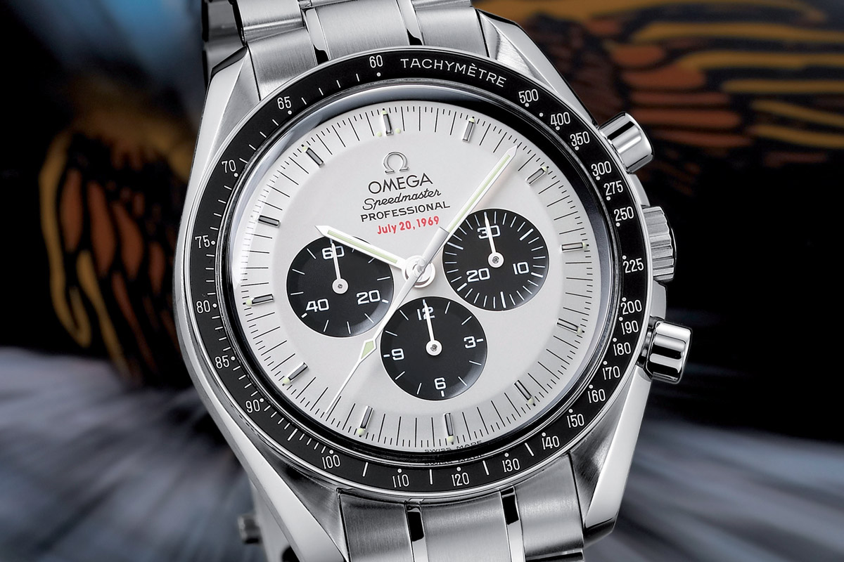 Omega Speedmaster Apollo XI 35th panda dial SU 145.0227