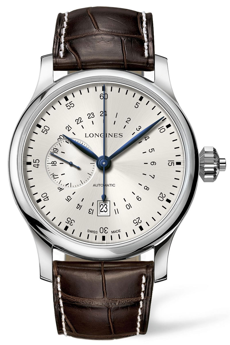 Longines 24-hour single pusher chronograph L2.797.4.73