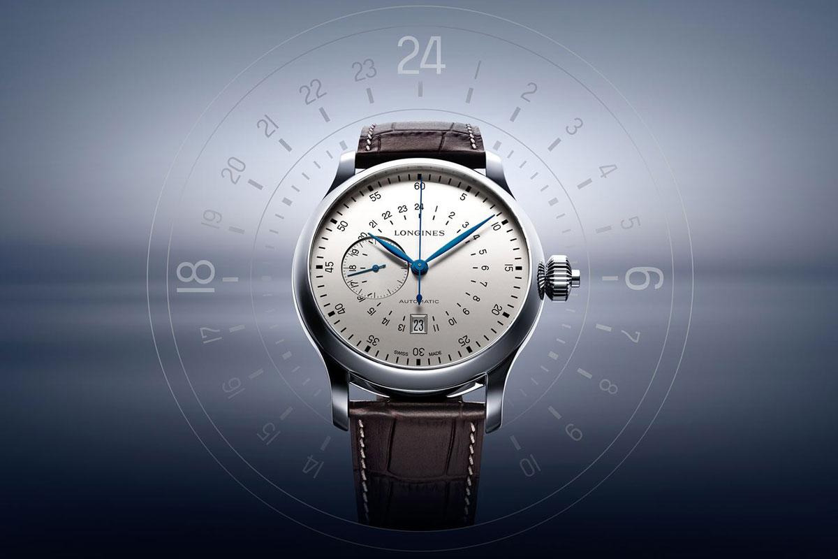 Longines 24-hour single pusher chronograph L2.797.4.73