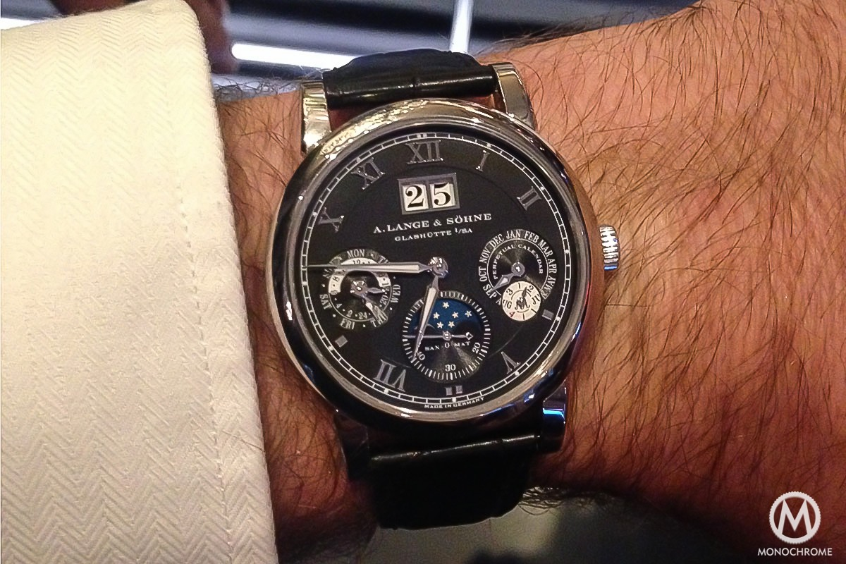 A Lange & Sohne Langematik Perpetual white gold black dial - 10