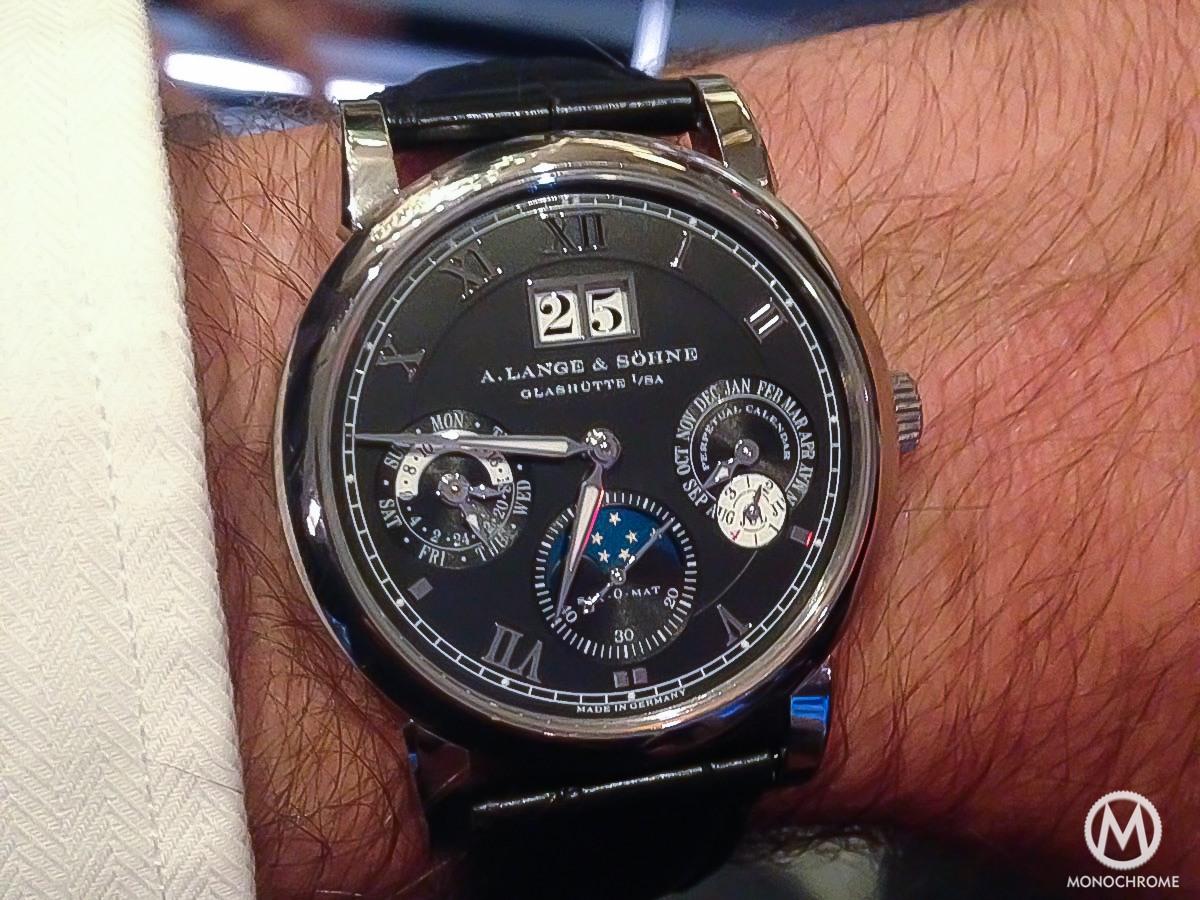 A Lange & Sohne Langematik Perpetual white gold black dial - 11