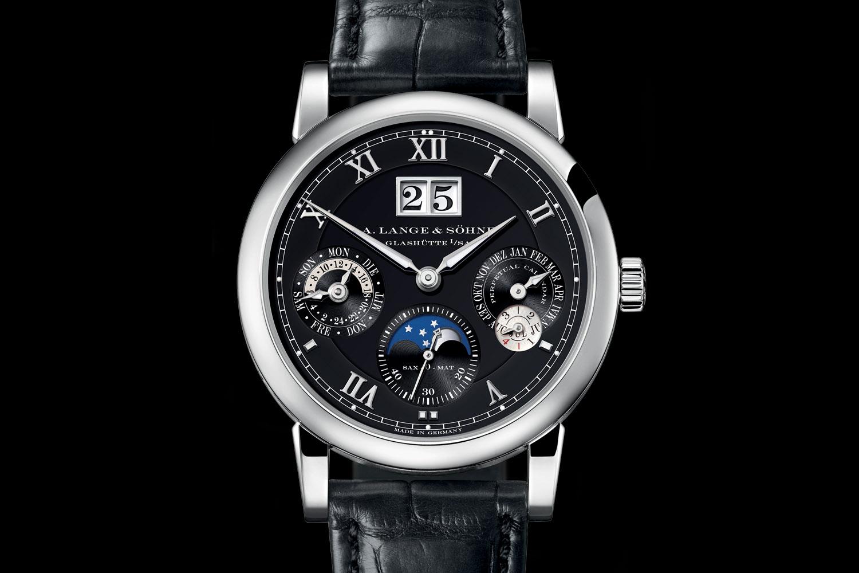 A Lange & Sohne Langematik Perpetual white gold black dial - 3