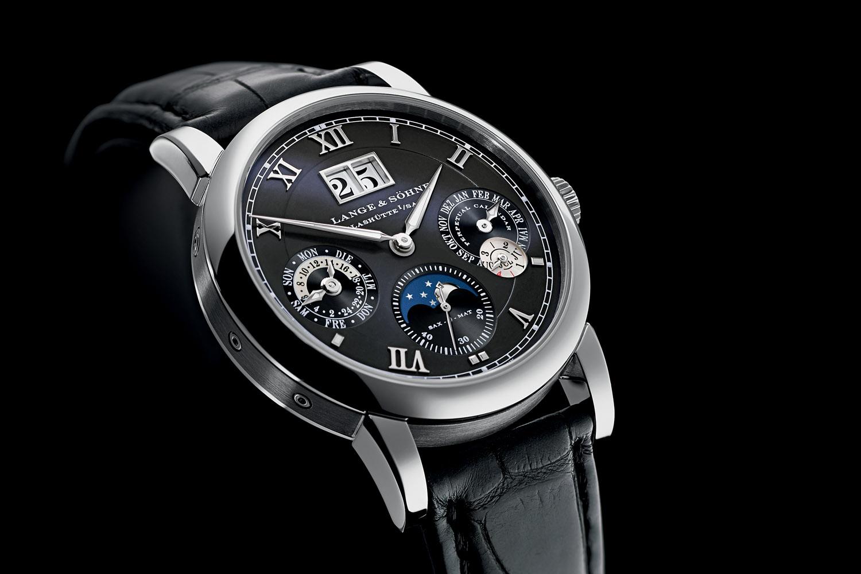 A Lange & Sohne Langematik Perpetual white gold black dial - 5