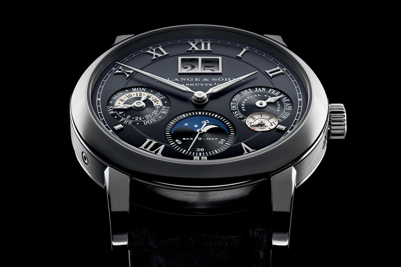 A Lange & Sohne Langematik Perpetual white gold black dial - 6