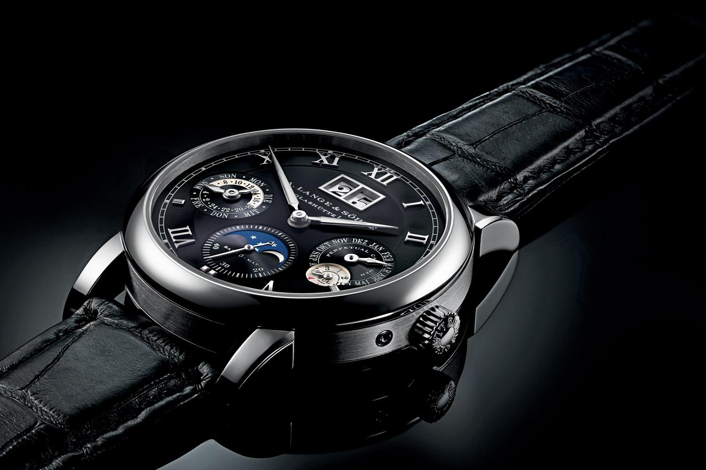 A Lange & Sohne Langematik Perpetual white gold black dial - 7