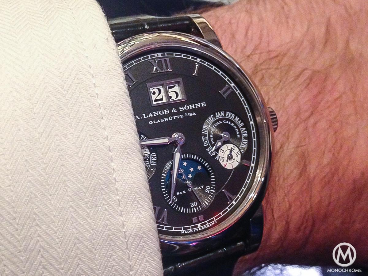 A Lange & Sohne Langematik Perpetual white gold black dial - 8