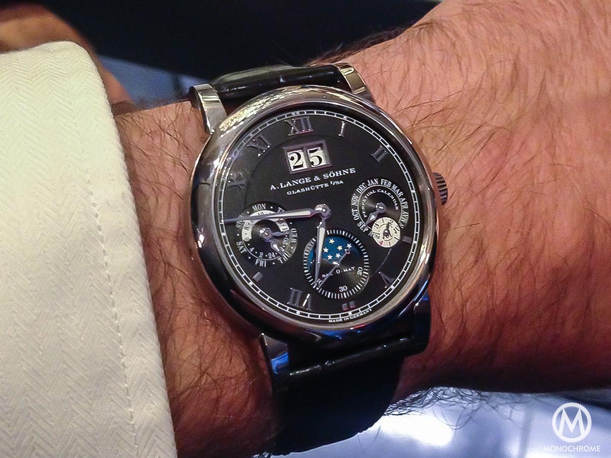 A Lange & Sohne Langematik Perpetual white gold black dial - 9