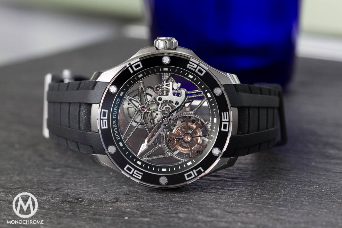 Skeleton flying tourbillon in titanium