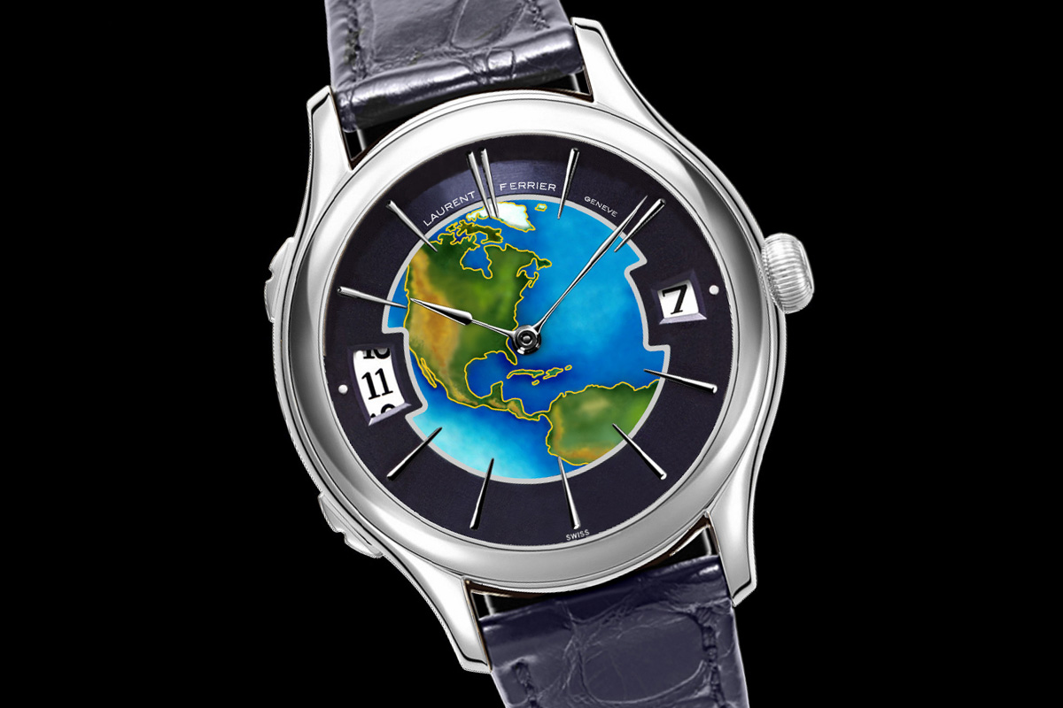 Laurent Ferrier Galet Traveller Enamel US Limited Edition White gold - 1
