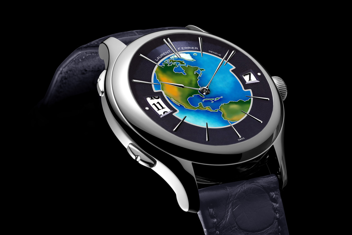 Laurent Ferrier Galet Traveller Enamel US Limited Edition White gold - 3