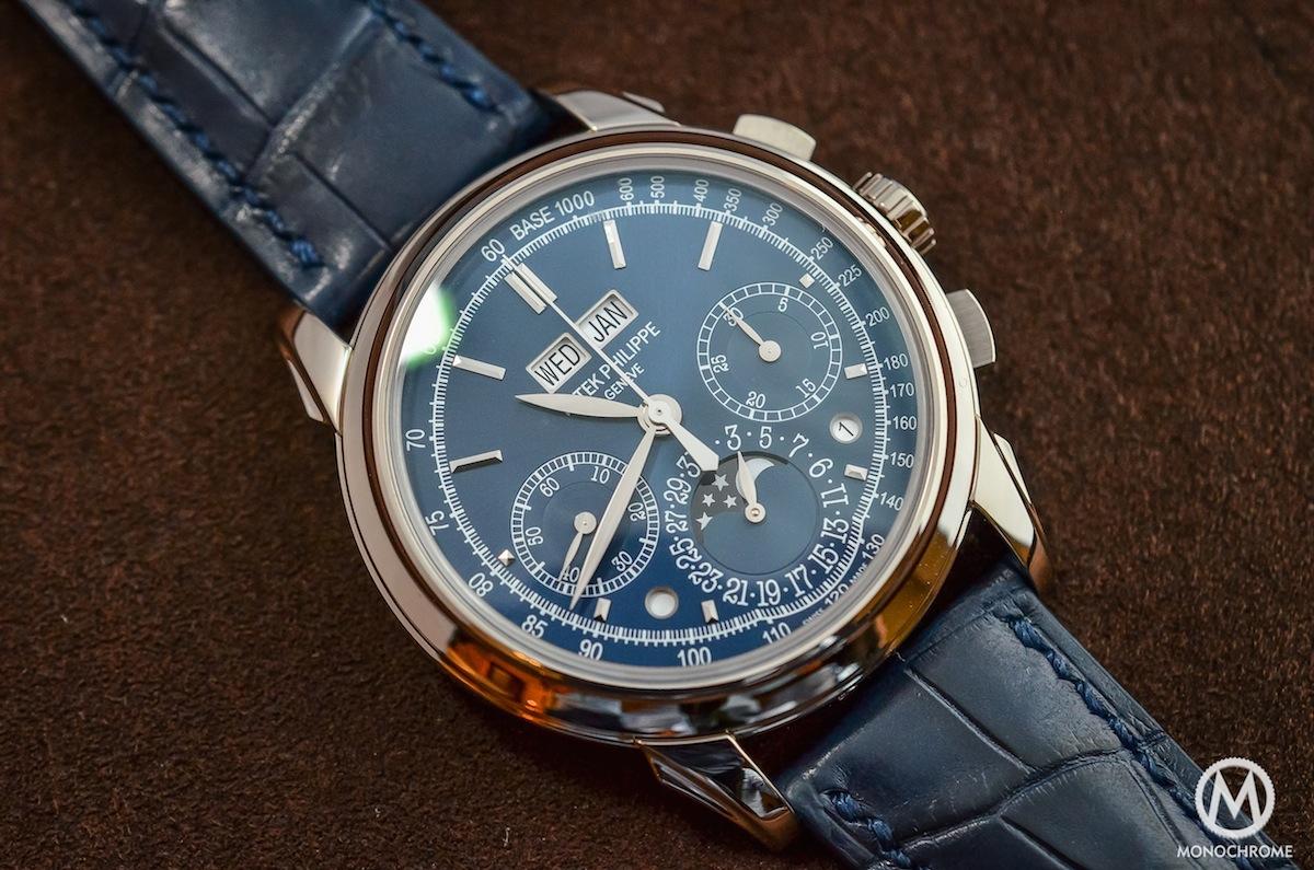 Patek Philippe Chronograph Perpetual Calendar Blue 5270G - 2